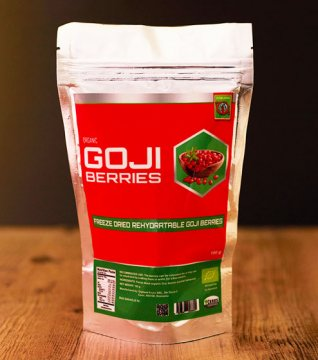 FREEZE DRIED GOJI BERRIES (organic) - 100g